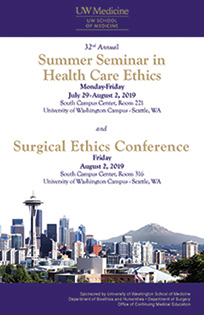 MJ2002A - MJ2002A 32nd Annual Summer Seminar in Health Care Ethics & Surgical Ethics Banner