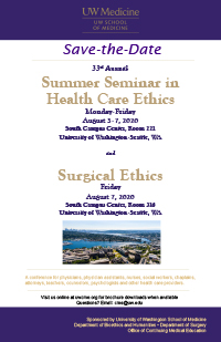 SD2102 - SD2102 Summer Seminar in Health Care Ethics and Surgical Ethics Banner