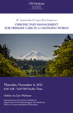 MJ2204 14th Annual John D. Loeser Pain Conference: Chronic Pain Management for Primary Care in a Changing World Banner